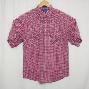 Pendleton Medium Pink Plaid Pearl Snap Shirt